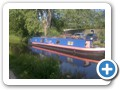 Narrowboat, top covered in solar panels for electicity, 23 mins from home